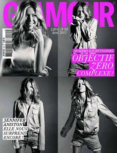 Jenifer Aniston en couverture du magazine Glamour n°85 (avril 2011)