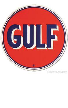 gulf gasoline sign