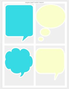 Printable Notepad - colorful speech bubble design - Easybee Beautiful Notes, Just A Little, Bubbles, Printables, Colorful, Prints, How To Make, Design