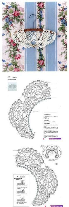 Crochet lace collar with rounded scallops ~~ 1620494_618418798206660_1536520818_n.jpg (323×960)