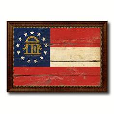 Georgia Flag Canvas Prints Arts Picture Framed Patriotic Souvenir Home Decor