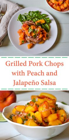 A little sweet, a little heat, and a whole lot of good! This flavorful peach and jalapeño salsa makes a superb summertime topping for pork chops. It's ready in minutes - all you have to do is grill the meat! #recipes #salsa #pork #dinners #healthyrecipes #healthyeating #beachbody #beachbodyblog