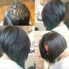 Full Weave Sew - Short Bob Sew In Hairstyles Sew In Bob Hairstyles, My Hairstyle, Straight Hairstyles, Black Hairstyles, Quick Weave Hairstyles Bobs, Fashion Hairstyles, Bob Haircuts, Protective Hairstyles, Hairstyle Ideas