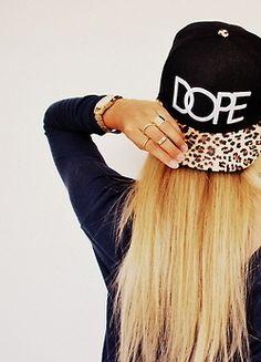 DOPE, SnapBack, hat, leopard print.