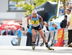 Miriam Goessner (GER) in the ODLO City Biathlon, Puettlingen, Germany