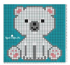 Polar Bear Cub Crochet C2C Blanket - Repeat Crafter Me