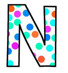 ArtbyJean - Paper Crafts: Alphabet Set - Polka Dots in bright magenta, shocking pink, blue, turquoise, aqua, and orange. Magenta, Aqua, Pink Blue, Turquoise, Polka Dot Letters, Polka Dots, Abc Letra, Alphabet Pictures, Alphabet And Numbers
