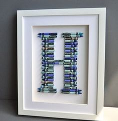 Crayola Letter Art In Blues Or Pinks - children's pictures & paintings