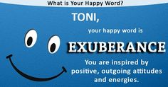 Name quiz/ Find out what is Your Happy Word! Silly Games, Happy Words, Cheer You Up, Names With Meaning, Wtf Funny, Words Of Encouragement, True Words, How To Be Outgoing, Are You Happy