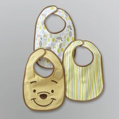 Make mealtime a little neater with this charming bib set featuring Winnie the Pooh. Each bib has a unique design and is adjustable and easy to clean