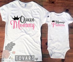 Neon Pink Mommy and Me Set Queen Mommy Mommy's Princess Women's Fitted or Unisex Tee-and Bodysuit or Shirt by Tovars on Etsy https://www.etsy.com/listing/231507918/neon-pink-mommy-and-me-set-queen-mommy