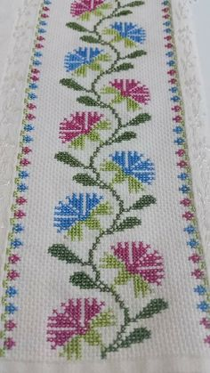 "# # Cross ""This post was discovered by Ayş"", ""Towel with Cross-Stitch"" Cross Stitch Borders, Cross Stitch Flowers, Cross Stitch Designs, Cross Stitching, Cross Stitch Patterns, Beaded Embroidery, Cross Stitch Embroidery, Hand Embroidery, Embroidery Designs"