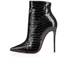 So Kate Booty Black Python from Christian Louboutin. Saved to Boots👢. Shop more products from Christian Louboutin on Wanelo. Leather High Heel Boots, Heeled Boots, Shoe Boots, Shoes Heels, Ankle Boots, Louboutin Shoes, Dress Shoes, Christian Louboutin So Kate, Beautiful Shoes