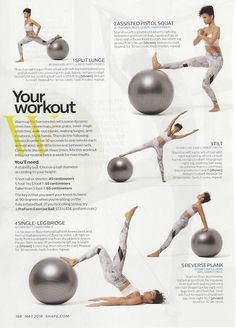Ball workout from @Nike master trainer Traci Copeland in @ShapeMagazine