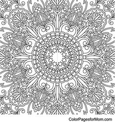 Mandala 673, Mandala Coloring Page 23 at Website.