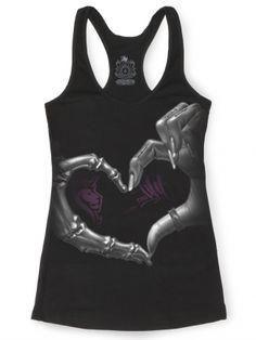 """Women's """"Heart Hand"""" Racer 014 by OG Abel (Black)"""