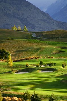 The Hills Golf Course near Arrowtown is home of the NZ Open.