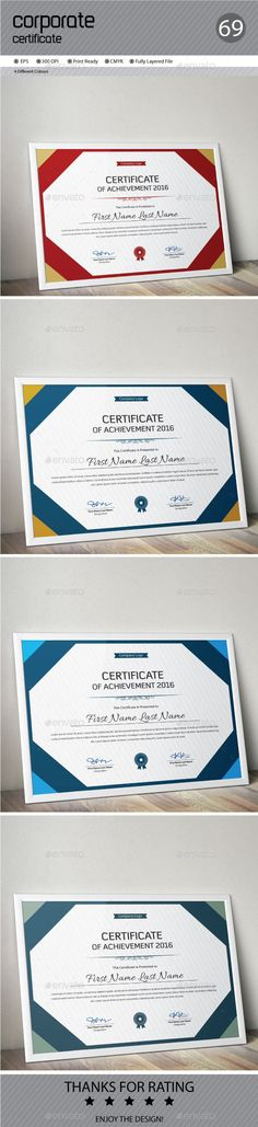 Certificate Certificate templates, Certificate design and Logos - Corporate Certificate Template