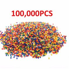 100000pcs/pack Crystal Water Bullet Paintball Gun Bullet Pistol Toy Orbeez Water Crystal Mud Soil Arme Arma Outdoor Toy