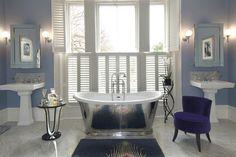 Luxury Art Deco Bathroom Design Ideas - My Daily Magazine - Art, Design, DIY, Fashion and Beauty ! Classic Bathroom, Modern Bathroom, Art Deco Bathroom, Bathroom Ideas, Bathroom Designs, Bad Styling, Traditional Bathroom, Traditional Baths, Bathroom Styling