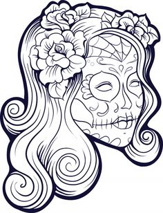 Sugar Skull Advanced Coloring 16 - KidsPressMagazine.com