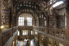 British PM Gladstone's library, open to the public, overnight stays, themed dinners. Booktopia!