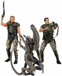 NECA Aliens Series 1 Set of 3 Action Figure [Hicks, Hudson & Warrior Alien] Pre-Order ships April