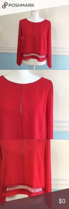 Lush Red Long Sleeve Blouse In excellent condition! Very cute!! Nordstrom Tops Blouses