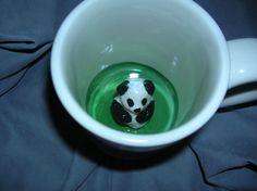 Panda Bear Children's Surprise Mug by ClayduSoleil on Etsy, $14.00
