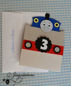 Jingvitations: Thomas the Train Invitations, Banner, Door Sign and Table Center