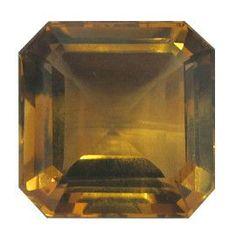 23.75 ct Emerald Cut Citrine Rich Yellow -Gold Crane & Co.