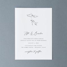 Simple Wedding Invitations Botanical Wedding Invites | Etsy Classy Wedding Invitations, Botanical Wedding Invitations, Wedding Invitation Suite, Wedding Stationery, Invitation Cards, Invites, Black Envelopes, Card Envelopes, Wedding Calligraphy