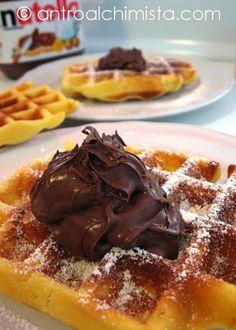 Gaufres con Nutella - Waffles with Nutella