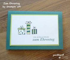 Zum Ehrentag – Eine Geburtstagskarte auch für Männer | geschtempelt, Stampin Up!