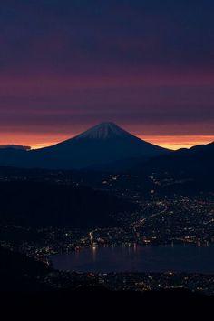Mount Fuji  http://en.wikipedia.org/wiki/Mount_Fuji