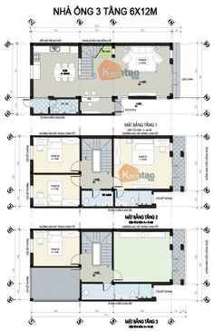 Mặt bằng thiết kế nhà lô phố đẹp 3 tầng 72m2, nhà đẹp 3 tầng, nhà chia lô đẹp
