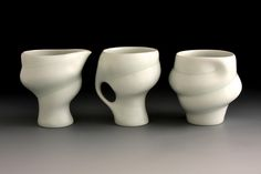 val cushing pottery | Petite set of Three 2011. In the ceramic collection at the University ...
