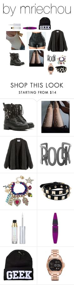 """""""Untitled #554"""" by mriechou ❤ liked on Polyvore featuring RED Valentino, Lirika Matoshi, I Love Mr. Mittens, Steve Madden, Betsey Johnson, Valentino, Urban Decay, Maybelline and Michael Kors"""