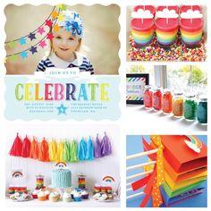 Rainbow Birthday Party Ideas by PurpleTrail.