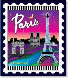 Zebra Patterns Mini City Stamp Panel Paris