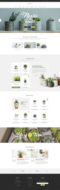 Buy Flowie - Gardening & Home Decoration Shop PSD Template by ThemeSun on ThemeForest. Flowie is a simply beautiful and delightful PSD template speacially designed for gardening and home decoration online. Web Design Trends, Ux Design, Creative Web Design, The Design Files, Layout Design, Design Agency, Label Design, Food Design, Identity Design