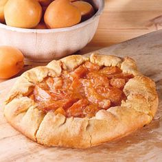 Country Apricot Tart - I think might try a version of this with the many apricots coming from my parents' trees.