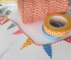 Washi tape cake bunting - was trying to work out how to do mini bunting easily!!!!!!1