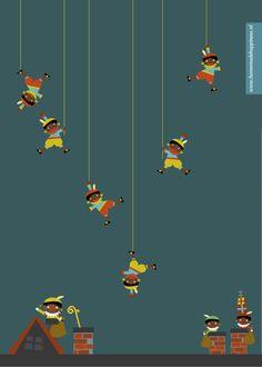 KnipBoek SinterklaasFeest: Pieten Pakpapier