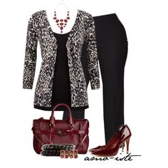 Work - Plus Size, created by amo-iste on Polyvore | Clothes