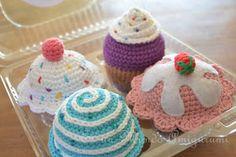 Es un Mundo Amigurumi: Set de Cupcakes...