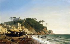 Andreas Achenbach – private collection. Porto Venere at the Ligurian Coast (1853) https://visualelsewhere.files.wordpress.com/2014/10/andreas_achenbach_-_porto_venere_am_ligurischen_meer.jpg
