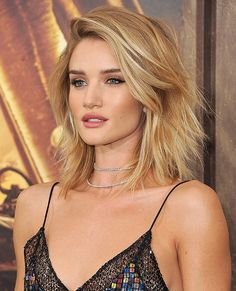 """I think shaggy haircuts like Rosie Huntington-Whiteley's new shorter look works great,"""
