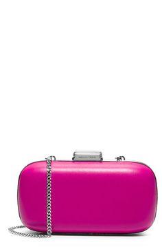 Women's MICHAEL Michael Kors 'Elsie' Leather Dome Clutch - Pink
