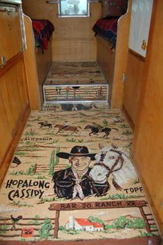 Ford F250 Cabover Camper Interior (Hopalong Cassidy) - 1956
